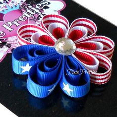 4th of july hair clip, how cute is this !!