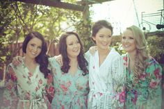 Set of 6 Bridesmaid robes or bridal party robes. by SingingSlowly