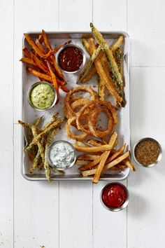 Fries and onion rings are the classic side to any barbecue, and there's so many ways to make them. Try one, or try them all!