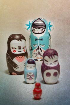 russian dolls matrioshkas