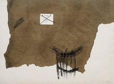 Antoni Tapies, Papier Kraft, 1971, etching.