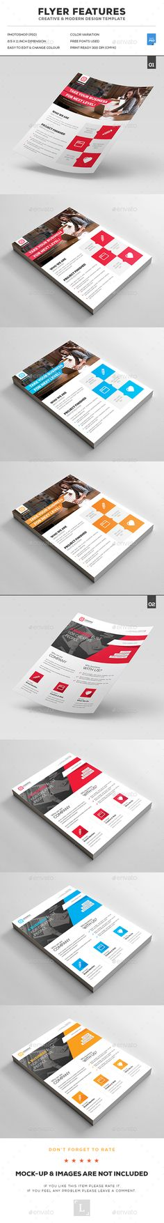 4 Corporate Business Flyer Templates Bundle V3 Business flyer - flyer background template