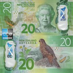 New Zealand 50 Dollars with Queen Elizabeth II UNC Banknote New Zealand Dollar, Money Notes, Valuable Coins, Old Money, World Coins, Luck Of The Irish, Coin Collecting, Elizabeth Ii, Postage Stamps