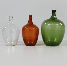 Set de 3 Vasos em vidro da primeira metade do sec.20th, 44cm / 59cm de altura, 1,400 USD / 1,300 EUROS / 4,470 REAIS / 8,700 CHINESE YUAN