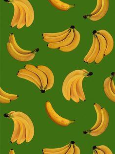Papel de Parede Adesivo Banana Verde - Collector55