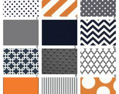 grey orange navy throw pillows - colors for living room?