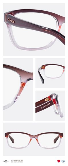 99354bcf2f6d9 Add some fun and bold colors to your look with these vintage inspired  tri-gradient frames from the Coach Idol collection. These rectangular  acetate frames ...
