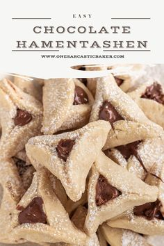 Delicious, melt in the mouth traditional hamentashen Purim cookie recipe. An easy one-bowl shortbread cookie recipe great for Purim and holiday cookie gift Purim Cookie Recipe, Cookie Recipes, Dessert Recipes, Desserts, Dessert Ideas, Kosher Recipes, Fun Baking Recipes, Sweet Recipes, Baker Recipes