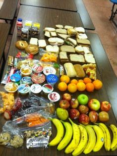 The bananas, bags of nuts and peanut butter sandwiches looked good enough to eat arranged on a table in the Franklin Middle School cafeteria on Tuesday, but the spread of fruits and snacks had been picked out of a trash can just minutes before.