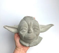 Excited to share this item from my #etsy shop: Concrete yoda head|concrete bust|star wars decor|geek gift|concrete Star Wars|housewarming gift|sculpture Concrete Plant Pots, Pokemon Gifts, Star Wars Decor, Fathers Day Presents, Great Father's Day Gifts, Childrens Gifts, Dog Wedding, Geek Gifts, Plant Holders