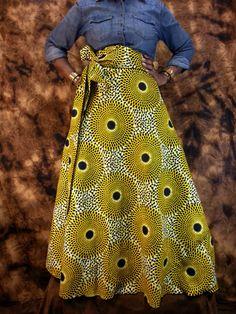 SHOP AFRICAN Wax Print Maxi SKIRTS High by HISINSPIRATIONWRAPS