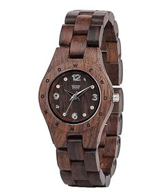 Another great find on #zulily! Indian Rosewood Gem Number Bracelet Watch - Women #zulilyfinds