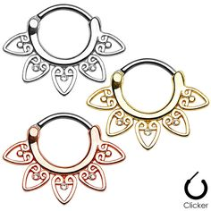 """Save 20% on all of our septum jewelry using the coupon code """"CLICKME"""" during checkout! (expires 4/30/2015)"""