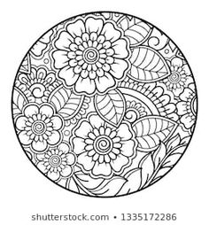 Stock Photo and Image Portfolio by Katika | Shutterstock Estilo Mehndi, Bee Painting, Mehndi Style, Illustrations, Coloring Book Pages, Mandala Art, Flower Patterns, I Tattoo, How To Draw Hands