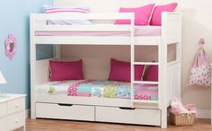 Stompa Classic White Bunk Bed