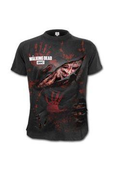 Gr.S-XL Daryl Dixon Sublimation Damen T-Shirt Weiss The Walking Dead