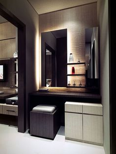 Small Dressing Table Large Mirror Design For Bedroom With White Storage And Box Chair Grey Chusion Interior Idea
