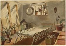 The Attic Bedroom Great Bardfield - Eric Ravilious - 6x4