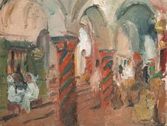 Café dans le souk de la kasbah à Tunis von Jules Lellouche