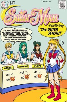 Sailor Moon version by Austin Carter! Avengers Alliance, Legion Of Superheroes, Sailor Moon Fan Art, Classic Comics, Silver Age, Girls Club, Comic Book Covers, Magical Girl, Cartoon Network