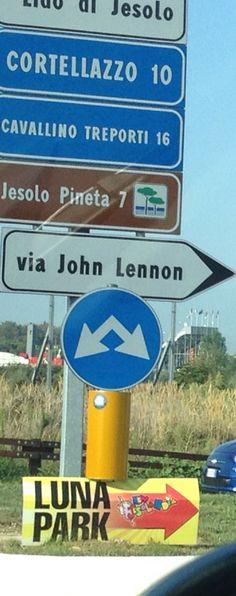 In Jesolo, via John Lennon