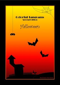 Math - Colorful Tangrams:  Halloween is coming! So I created this set of 20 different Halloween Tangram Patterns. Some puzzles are easy to solve, others can be quite challenging.