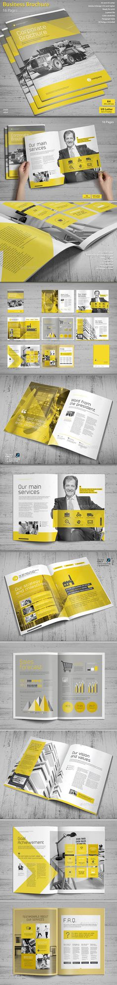 Buy Business Brochure by MrTemplater on GraphicRiver. This is a modern and powerful template for a Brochure. Perfect for PR agency or other business pro. Corporate Brochure, Business Brochure, Brochure Design, Brochure Template, Mo Design, Text Design, Graphic Design Fonts, Typography Design, Company Portfolio
