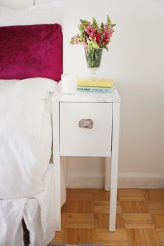 ikea nordli nightstand revamp made by monique