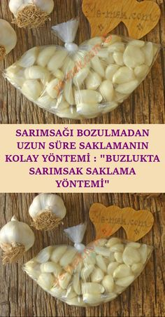 Her yemek yapışınızda tek tek soymakla uğraşmadan ve uzun süre bozulmadan… It is a practical method that you can keep it without spoiling for a long time every time you cook and keep it intact … Clean Recipes, Crockpot Recipes, Beautiful Birthday Messages, Garlic Storage, How To Store Garlic, Different Vegetables, Freezer Storage, Food Pictures, Vegetarian Recipes