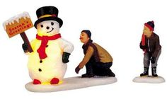 lemax 04511 | 04511 - Frosty's Friendly Greeting, Set of 2 (4.5v) - Lemax ... Snowman only
