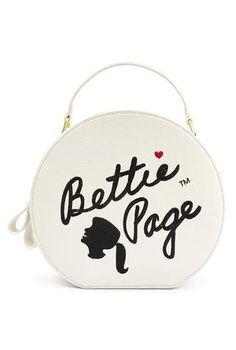 Bettie Page White Hat Box Style Purse