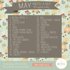 May is here. May you join the photo a day challenge. - Fat Mum Slim