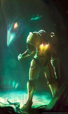 Samus Aran - Metroid - Artist: Rhex Firemind