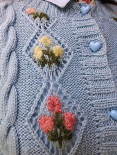 168a9ba0d18d70  My Hand Knitted   Hand Embroidered Sweater