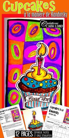 Voici un projet pour débuter l'année scolaire. Une création de carte de fête, que les élèves pourront personnaliser et recevoir durant l'année. Pourquoi ne pas débuter l'année artistiquement, en travaillant à la manière d'un artiste célèbre: Vassily Kandinsly. Du matériel simple : des feutres de couleurs, colle et ciseaux. Bonne rentrée ! French Classroom, Art Classroom, Art Education Lessons, Art Lessons, Middle School Art, Art School, Classe D'art, Student Birthdays, Art Carte