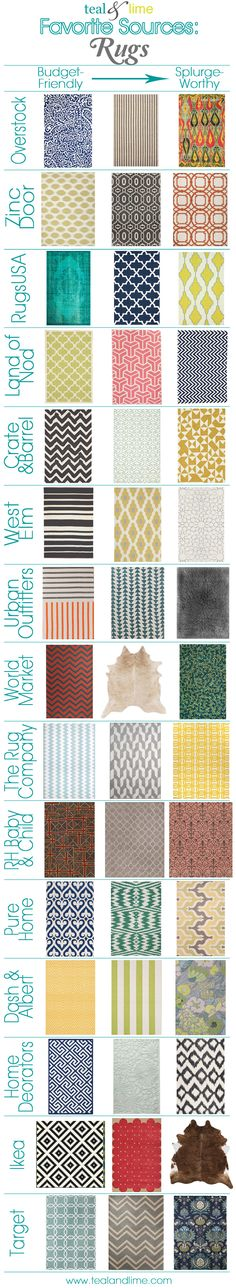 15 Favorite Sources for Rugs (modern, geometric, colorful) by Teal & Lime