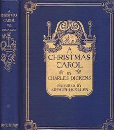 A Christmas Carol has been given 15 different book covers... I have this one from 1914.  Which one do you have??