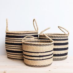 Woven African Storage Baskets and Hampers – connectedgoods. Black Basket, Hamper Basket, Side Table With Storage, Leather Stool, Baby Bassinet, Basket Weaving, Woven Baskets, Woven Laundry Basket, Vases