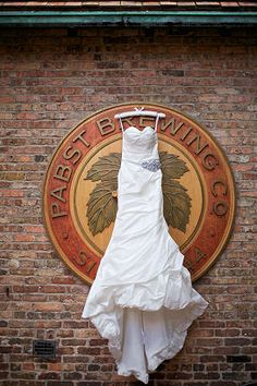 Beautiful wedding dress meets history at Best Place at the Historic Pabst Brewery