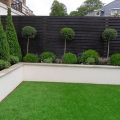 Contemporary Garden Design Ideas For Small Gardens provided Landscape Gardening Franchise near Landscape Gardening Kilmarnock. Black Garden Fence, Garden Fencing, Garden Beds, Home And Garden, Garden Walls, Black Fence, Garden Shrubs, Fence Plants, White Fence