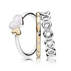 Pandora rings sale clearance Loving Symbols Ring Stack, pandora stacking rings sale together, pandora rings buy two get one for free, so we make this pandora rings set stacked rings. Pandora Bracelets, Pandora Jewelry, Pandora Charms, Cute Jewelry, Charm Jewelry, Pandora Rings Stacked, Silver Necklaces, Silver Rings, 925 Silver