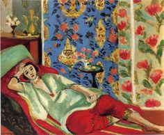 """""""Odalisque in red trousers"""" - Henri Matisse"""