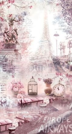 Paris Wallpaper, Queens Wallpaper, Scenery Wallpaper, Pastel Wallpaper, Wallpaper Backgrounds, Wallpaper Space, Decoupage Art, Decoupage Vintage, Aesthetic Iphone Wallpaper