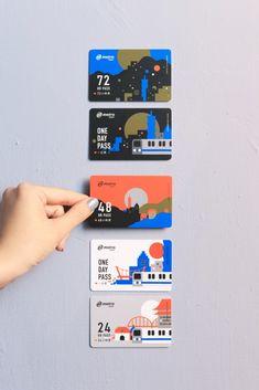 台北捷運旅遊票卡新設計!白輻射影像以「隨時台北」理念翻玩五款日出日落時間感與台北色彩 - LaVie 設計改變世界 Credit Card Design, Name Card Design, Banner Design, Graphic Design Posters, Graphic Design Illustration, Member Card, Ticket Design, Magazine Layout Design, Branding Design
