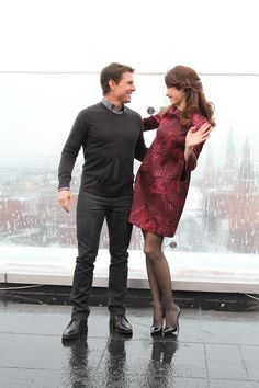Tom Cruise e Olga Kurylenko a Mosca