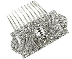 Regina B  - Classic Art Deco Comb, $225.00 (http://shop.reginab.com/headpieces/classic-art-deco-comb/)