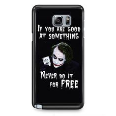 Joker Quotes TATUM-5943 Samsung Phonecase Cover Samsung Galaxy Note 2 Note 3 Note 4 Note 5 Note Edge