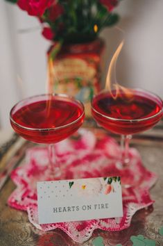 Hearts on Fire, a red-hot flaming concoction for Valentine's Day | Photo by Regina Rached