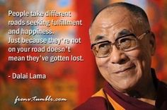 Reminder from the Dalai Lama to honor differences.