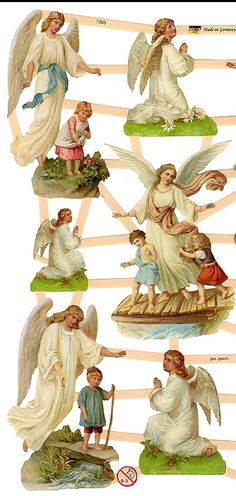 Guardian angel scraps from Germany ~ perfect for card making and Christmas ornaments